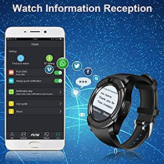 Smart watches with SIM card slot touch screen camera (Black 5)