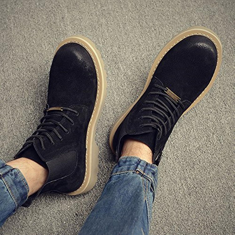 HL-PYL-Martin alta stivali Scarpe Stivali per il Coreano Matte,40,Nero   Eccellente  Qualità    Uomo/Donna Scarpa