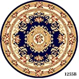 GRENSS Europäische Runde Teppichboden Wohnzimmer Couchtisch Schlafzimmer Bett Decken Computer Stühle Esstisch Pad Eingang in Den Haushalt Teppich, 1 Meter kreisförmig, 1255 B