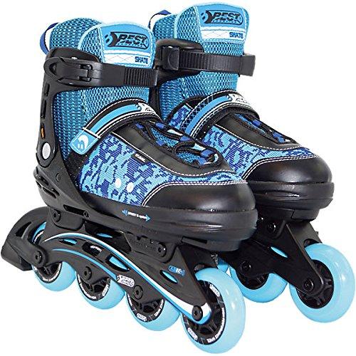 Best Sport Kinder Inline-Skates Inline-Skates, Blau/Schwarz, 35-40, 2307257