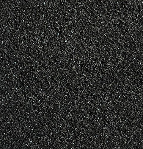 Rhinestone Paradise Dekosand Schwarz 600g Quarzsand Deko Sand Streusand Streudeko Schwarzer Sand Streusand Tischdeko Dekorationssand
