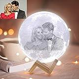 ACED Lampada luce notturna con foto e testo personalizzata, luce decorazione personalizzabile romantica stanza 3 colori, per