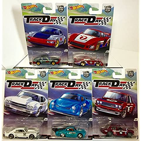 Hot Wheels Car Culture Track Day Set Of 5 Porsche 964, '78 Porsche 953, '70 Chevelle, Volkswagen Karmin Ghia, Datsun Bluebird 510 by HW - Karmann Ghia Porsche