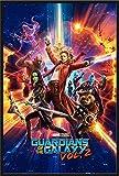 Guardians of The Galaxy Vol. 2 - One Sheet - Film Poster Plakat Druck - Größe 61x91,5 cm + Wechselrahmen, Shinsuke® Maxi Kunststoff schwarz, Acryl-Scheibe