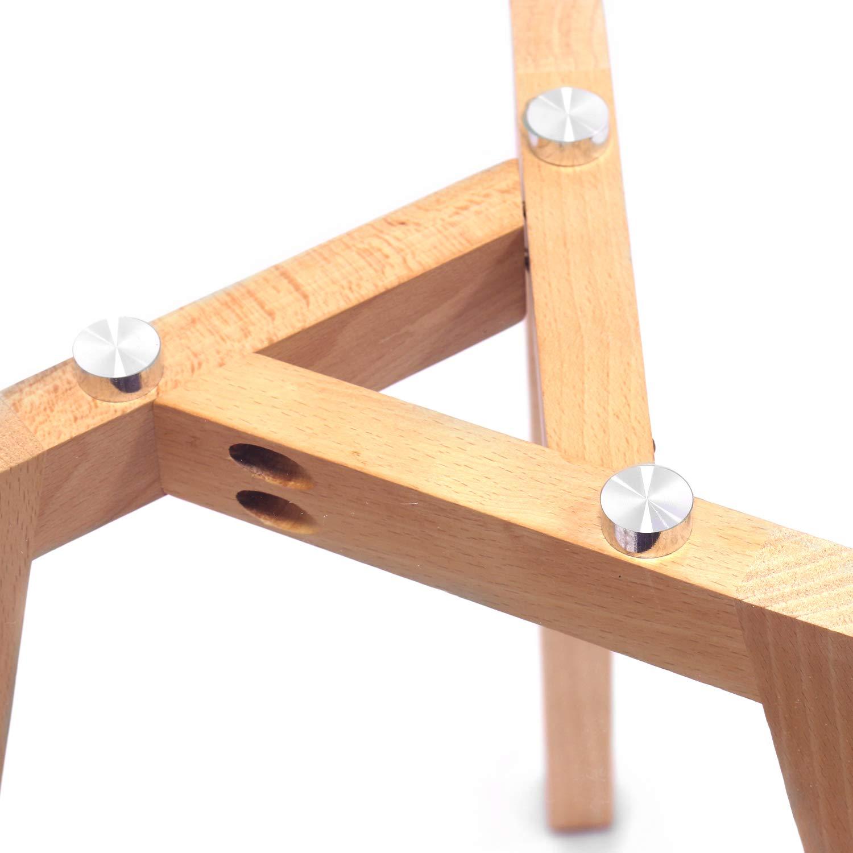 Dimensions55x55 MaisonMaligne en de Rondes Set Massif Tables de Basses Verre Scandinave 45x45 2 2 cm Lot Gigognes Style et et Chêne Tables sdCxtQrh
