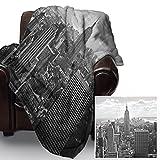 BLANC-NOIR-NEW-YORK-COUVRE-LITCOUVERTURE-EN-POLAIRE-DOUCE-HOUSSE-DE-CANAP-LIT