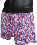 Mens Uk British Flag Union Jack Boxers Shorts