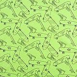 SCHÖNER LEBEN. Jerseystoff Jersey Skateboard neon grün