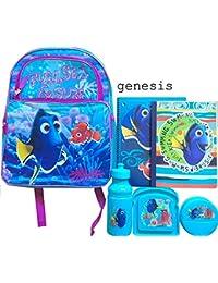 Preisvergleich für Finding Dory Kinder Rucksack mit Spiralnotizb¨¹cher & Finding Dory 3 Pc Lunch Kit