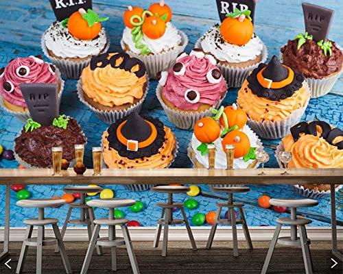 Süßigkeiten Süßigkeiten Kuchen Halloween Cupcake Essen 3d Tapete Papel de Parede für Wohnzimmer Dessert Shop Küche Restaurant Café Bar 250x175cm