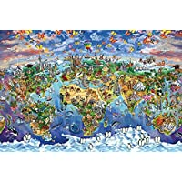 "Pyramid International ""World Wonders map Maria Rabinky"" Maxi Poster, Multi-Colour, 61 x 91.5 x 1.3 cm"
