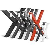 HOLZBRINK Tafelpoot vorm X met gesloten profielen 40x40 mm, tafelvoet 30x43 cm, Diep zwart, HLT-03-F-AA-9005