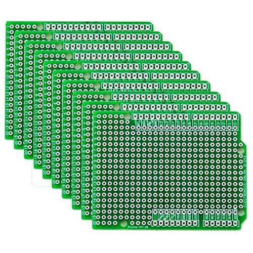 Electronics-Salon 10x Prototype PCB for Arduino UNO R3 Shield Board DIY. by CZH-LABS