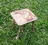 Mittelalterlicher Hocker mit wild gewachsenen Beinen für Larp, Reenactor, Schemel für Tavernenbestuhlung oder Lager