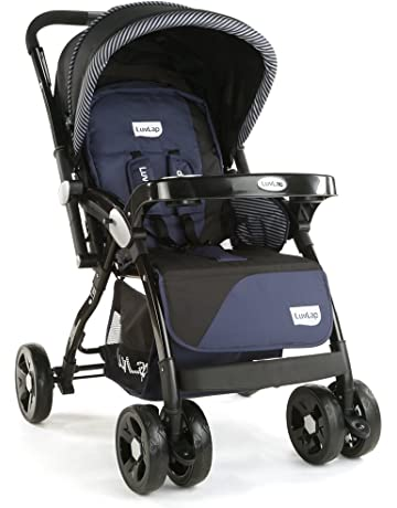 LuvLap Galaxy Stroller/Pram, Extra Large Seating Space, Easy Fold, for Newborn Baby/Kids, 0-3 Years (Navy Blue)