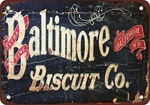 Baltimore Biscuit Co. Look Vintage Reproduction Plaque en métal 17,8x 25,4cm