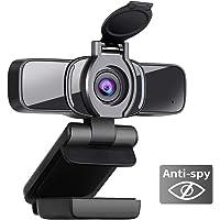 Dericam 1080P Webcam mit Mikrofon, USB Computer Webkamera, Plug Mit Play Desktop und Laptop-Webcam für Windows Mac OS…