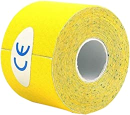Healifty Therapy Tape Self Adhesive Support Tape Physio Therapeutic Aid for Knees Shoulders Muscle Support 500 x 2.5cm (Yellow)