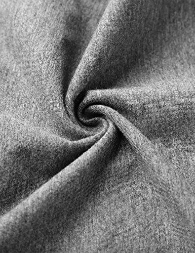 KAIUSI Herren Basic Rundhals Streifen Pullover Langarmshirt Grau-Weiss