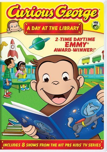 Curious George: A Day at the Library by Frank Welker (George-dvd Curious)