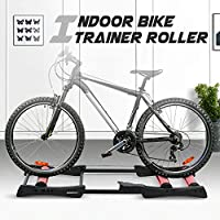 Honeytecs Bike Roller Trainer Indoor Bicycle Cycling Trainer Training Station Bike Exercise Fitness Stand Tool