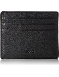 Ecco Womens Sculptured Case Card Holder, Black, 1x7.5x11.5 cm (B x H x T) Ecco