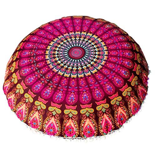 Ode_Joy Grande Mandala Pavimento Cuscini Il Giro Boemo Cuscino per Meditazione/Grande copricuscino Rotondo/Lenzuola Stampate Divano Cuscino Copertina Home Decor Rimovibile E Lavabile