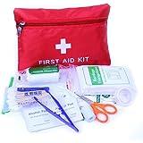 Ulmisfee Erste Hilfe Set,33 Stück Mini Notfalltasche medizinische Überlebenstasche wasserdicht Survival Kit für Auto,Zuhause,Picknick,Camping,Reisen und andere Outdoor-Aktivitäten