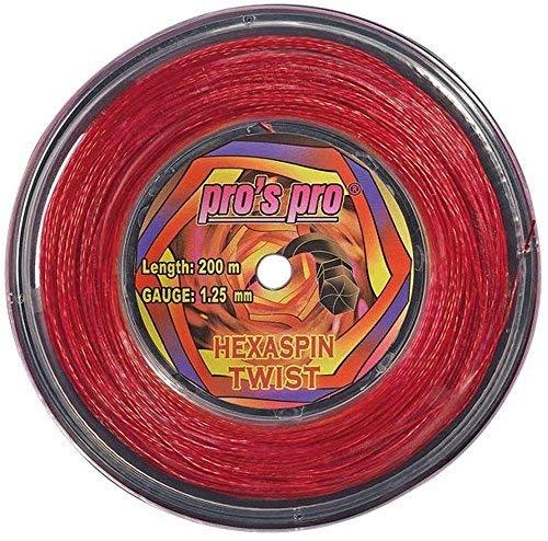 Tennissaite Hexaspin Twist 1.25mm mit Spin 200m rot