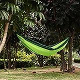 Tenn Well Hängematte, Große tragbare Hängematte aus reißfestem Nylon für Drinnen & Draussen, Camping, Garten, Strand und Reisen (grün)