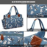 Miss Lulu Ladies Handbag Fashion Pattern Shoulder Tote Bags for Women Girls (1105-16J Dark Blue)