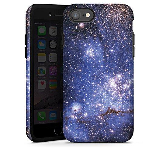 Apple iPhone X Silikon Hülle Case Schutzhülle Galaxy Muster Space Tough Case glänzend