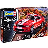 Revell Ford Mustang V Shelby GT500 Coupe Rot mit Weissen Streifen 5. Generation 2004-2014 07044 Bausatz Kit 1/25 1/24 Modell Auto