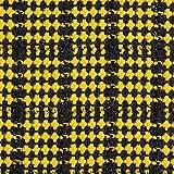 Fabulous Fabrics Mantelstoff Lurex – schwarz/gelb —