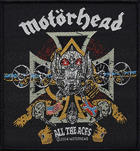 Motörhead toppa All The Aces Patch in tessuto 10x 10cm