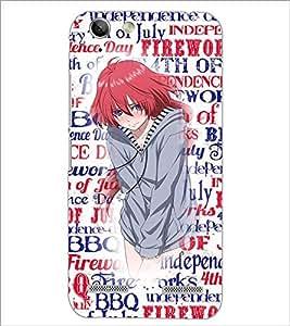 PrintDhaba Cute Girl D-2709 Back Case Cover for LENOVO A6020a46 (Multi-Coloured)