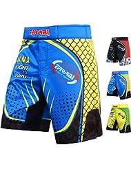 Farabi F2W MMA Shorts Kick Boxing Muay Thai Training Match Fight Short (Blue Yellow,