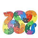 Woop Zahlen-Puzzle Holz Schlange - Klein-Kinder ab 3 Jahre