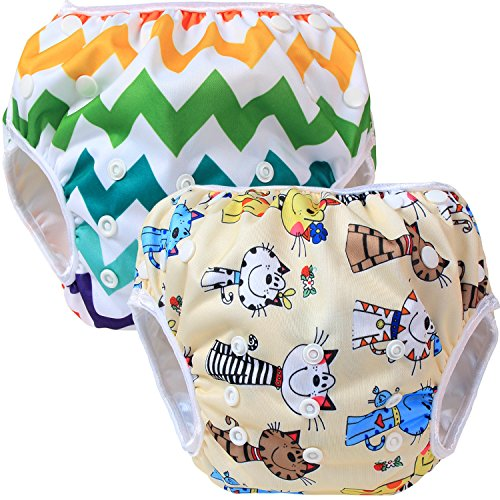 teamoy-2pcs-baby-nappy-riutilizzabile-pannolino-da-nuoto-cats-colorful-chevron
