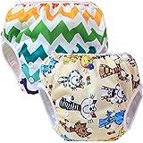 Teamoy Swim pañales para bebés (2 Pack) pañal de tela cubierta Calzones de entrenamiento para los muchachos y las muchachas