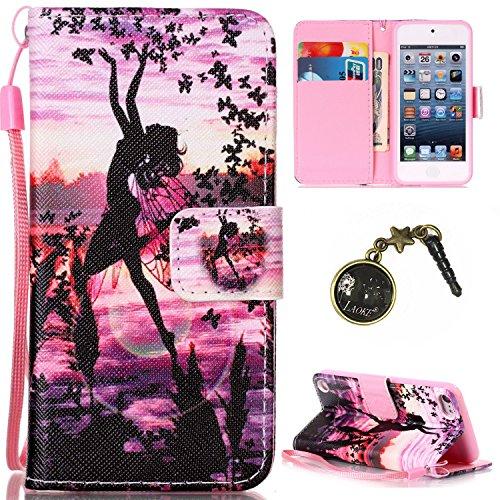 PU Silikon Schutzhülle Handyhülle Painted pc case cover hülle Handy-Fall-Haut Shell Abdeckungen für Apple iPod Touch 5 / Touch 6+Staubstecker (6II)