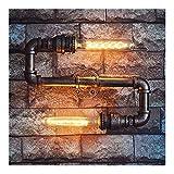 Bd Wandleuchte, kreative Beleuchtung for Zuhause Industrie Wind Retro Wasser-Rohr-Lampe Metall-Wandleuchte Handbuch Tube Beleuchtung Dekoration A+ (Color : No light source)