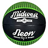 Best Basketball Balls - Midwest Midwest Neon Basketball Black/Green Size 7 Basketball Review