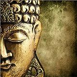 Posterlounge Acrylglasbild 70 x 70 cm: Buddha Gold - Wandbild, Acryl Glasbild, Druck auf Acryl Glas Bild