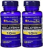#7: Puritan's Pride Super Strength Rapid Release Capsules Melatonin 10 mg -- 2 Bottles each of 120 Count