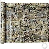 TecTake Balkonbespannung Sichtschutz Windschutz Sichtblende | Witterungsbeständig - verschiedene Farben und Größen (Stein 0,9 x 6 m | No. 402709)