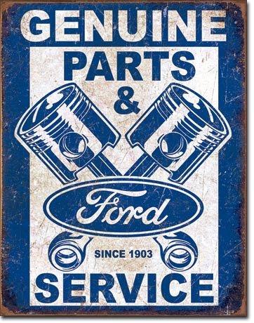 The Finest Website Inc. New Ford Original Teile und Service Kolben 40,6x 31,8cm (d2068) Verwitterte Optik Werbung Blechschild (Usa Kolben, In Made)