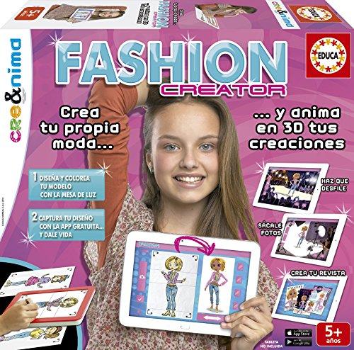 Educa Borrás - Crea&Nima Fashion Creator, juego creativo para niña (16149)