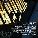 Sillages - Sonate pour violon - Habanera - (version piano 4 mains) - Feuille d'images