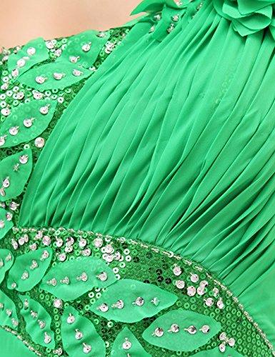 Dressystar Robe de soirée, une Bretelle, en Mousseline Vert